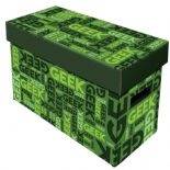 Comic Book Cardboard Storage Box with Geek, Green Artwork, holds 150-175 Comics